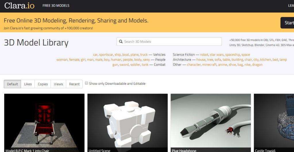 30 Páginas para descargar modelos 3D Gratis - Parte 02