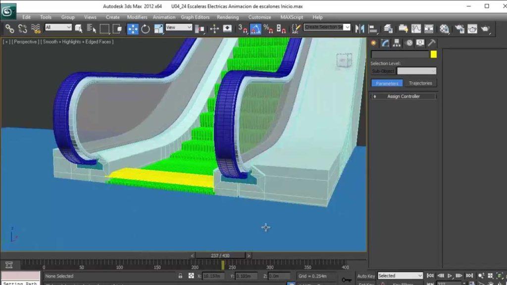 Modelado profesional de arquitectura en 3ds max gov3dstudio for Escaleras 3d max